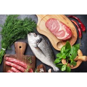 Мясо, рыба и полуфабрикаты